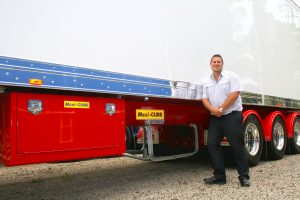 Bruce Lawson with one of his beloved Maxi-CUBE trailers.